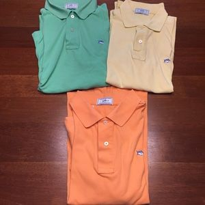 Lot of three pastel Southern Tide Skipjack Polo